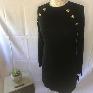 I.N.C. Sweater Dress with Gold Accent Buttons